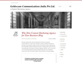 goldoceancommunications.wordpress.com screenshot