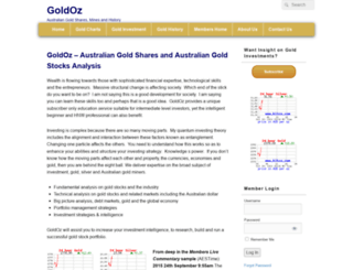 goldoz.com.au screenshot