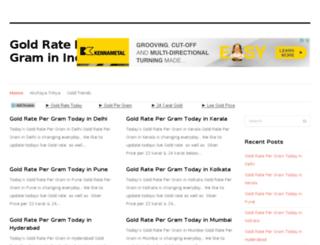 goldratepergram.in screenshot