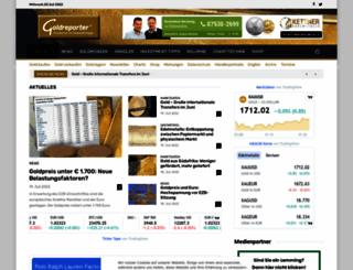 goldreporter.de screenshot