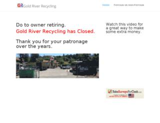 goldriverrecycling.com screenshot