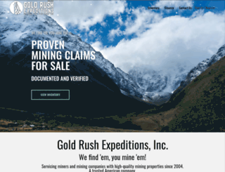 goldrushexpeditions.com screenshot