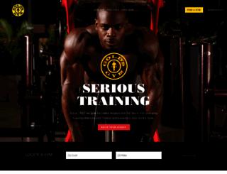 goldsgym.com screenshot