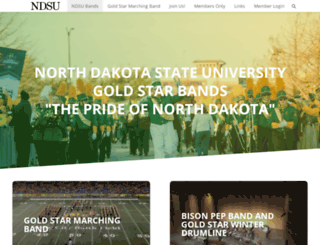 goldstarband.org screenshot