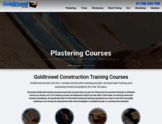 goldtrowel.co.uk screenshot