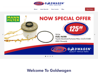 goldwagen.co.za screenshot