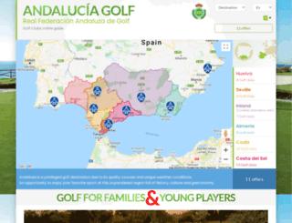 golf-andalucia.net screenshot