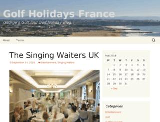 golf-holidays-france.com screenshot