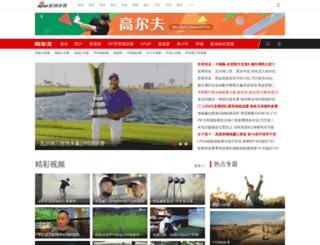 golf.sina.com.cn screenshot