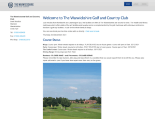 golf.thewarwickshire.com screenshot