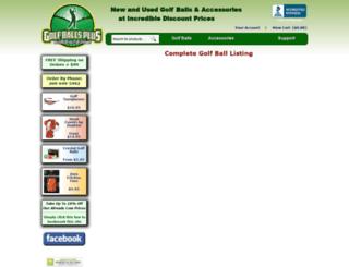 golfballsplus.com screenshot
