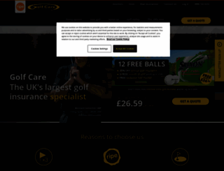 golfcare.co.uk screenshot