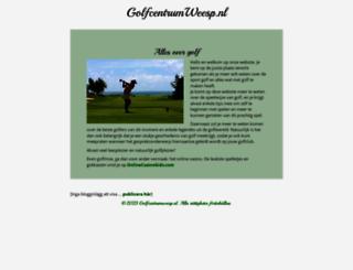 golfcentrumweesp.nl screenshot