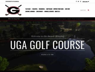 golfcourse.uga.edu screenshot