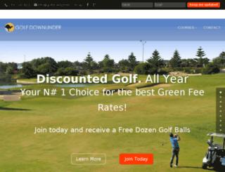 golfdownunder.com.au screenshot