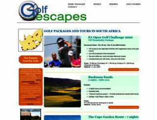 golfescapes.co.za screenshot