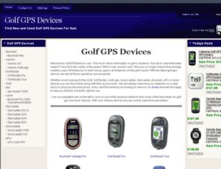 golfgpsdevices.com screenshot