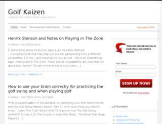 golfkaizen.com screenshot
