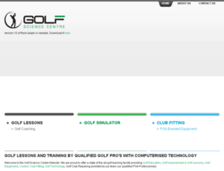 golfsciencecentre.com.au screenshot