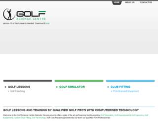 golfsciencecentre.com.au screenshot