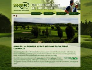 golfspot-odenwald.de screenshot