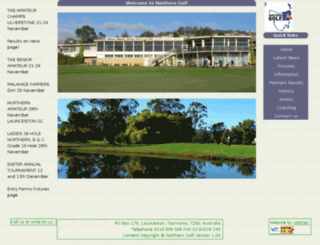 golftasmanianorth.com screenshot
