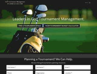golftournamentmanagement.com screenshot
