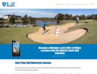 golfuniversity.tv screenshot