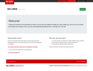 golinks.ncsu.edu screenshot