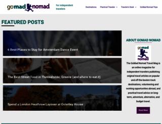 gomadnomad.com screenshot