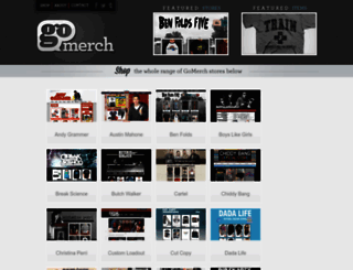 gomerch.com screenshot