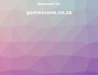 gomeszone.co.za screenshot
