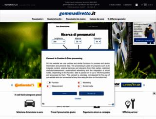 gommadiretto.it screenshot