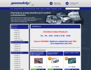 gomodely.cz screenshot