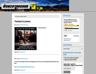 gonzotrucker.com screenshot
