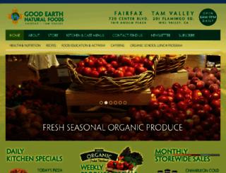 goodearthnaturalfoods.net screenshot