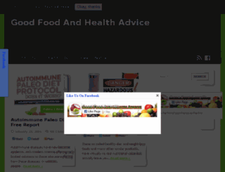 goodfoodandhealthadvice.com screenshot