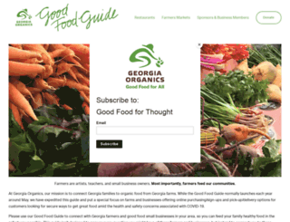goodfoodguide.georgiaorganics.org screenshot