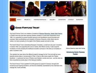 goodfortunetrust.org screenshot