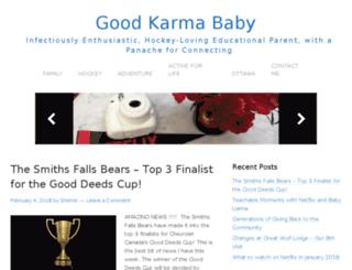 goodkarmababy.blogspot.ca screenshot