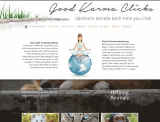 goodkarmaclicks.com screenshot