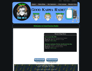 goodkarmaradio.com screenshot