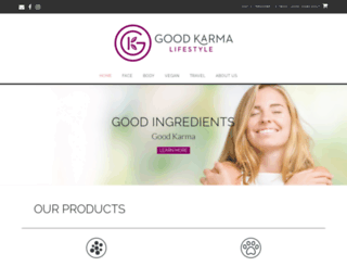 goodkarmaskincare.com screenshot