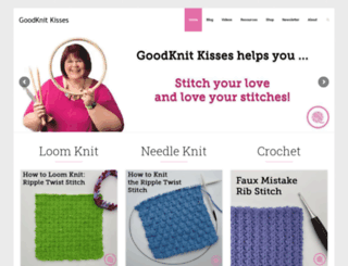 goodknitkisses.com screenshot