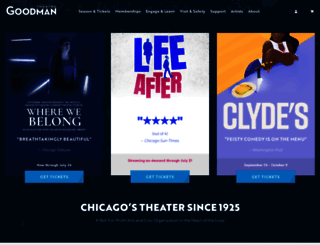 goodmantheatre.org screenshot