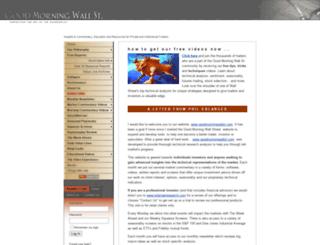 goodmorningwallst.com screenshot