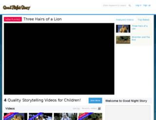 goodnightstory.org screenshot