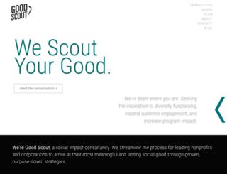 goodscoutgroup.com screenshot