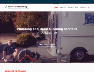 goodsenseplumbing.ca screenshot