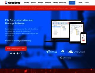 goodsync.com screenshot